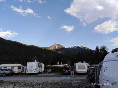 Sanitärbereich des Campingplatzes am Achensee