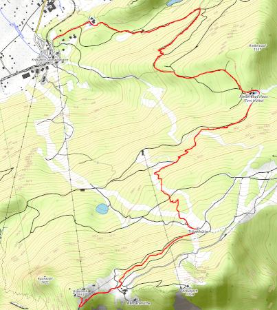 Wanderung vom Kreuzeck (BErgstation) zur Talstation