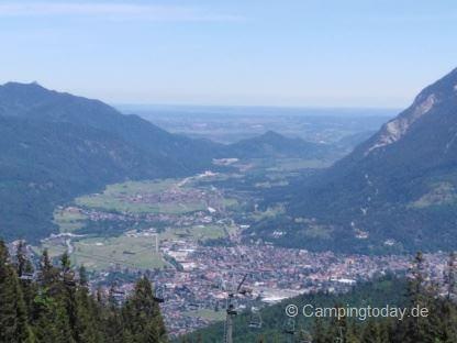 Kreuzeck Blick auf Garmisch-Partenkirchen