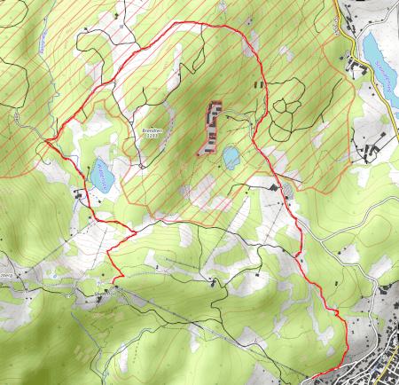Wanderroute von der Kransberg-Bergstation
